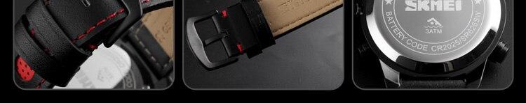 SKMEI 2019 Men\`s Wrist Watches Top Brand Luxury Watch Men Sports Leather Watches Business Digital Watch For Men reloj hombre (12)