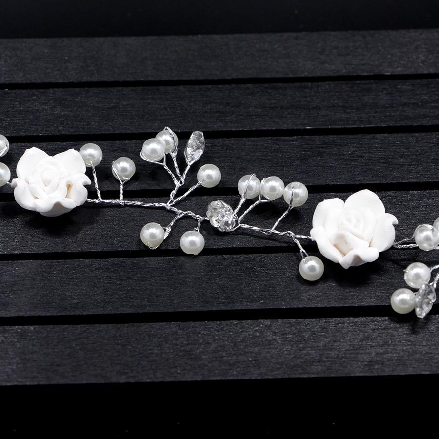 HTB1Zdr7nKSSBuNjy0Flq6zBpVXaF Bridal Handmade Hair Flower Vine Accessory