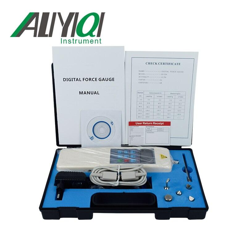 Цифровой Динамометр толкающий и Тяговый измерительный прибор(HF-200) толкающий калибровочный динамометр 20 кг динамометр