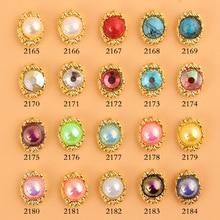 10pcs New Crystal AB Nail Rhinestone Alloy Nail Art Decorations DIY Glitter 3D candy Pendant Nail Jewelry Manicure Supplies