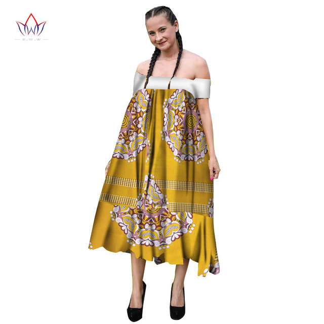 5739b6a239e Summer African Women s Print Dresses African Dashiki Traditional clothing  African Print Dress for Women Plus Size 6XL BRW WY1826