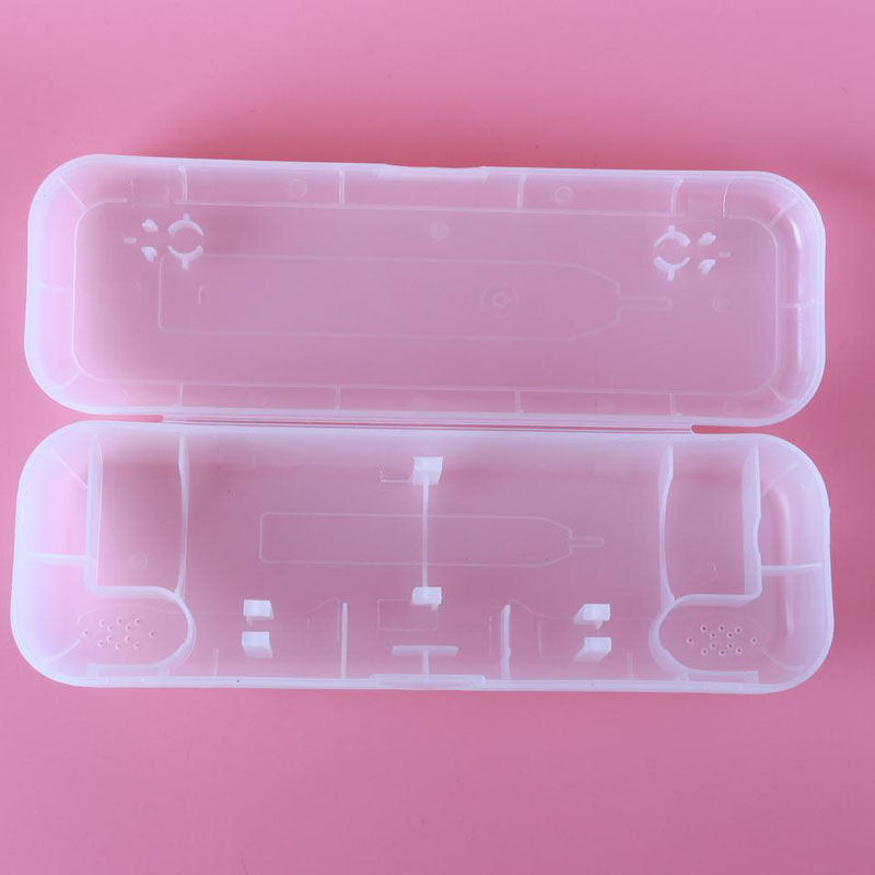 Portable Storage Box or <font><b>Oral</b></font> <font><b>B</b></font> Electric Toothbrush Protect Holder Case Transparent ( only box ) image