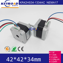 2pcs 3D Printer Nema17 Reprap CNC Stepper Motor with Single Flat 1m wires for 3d cnc models Free shipping