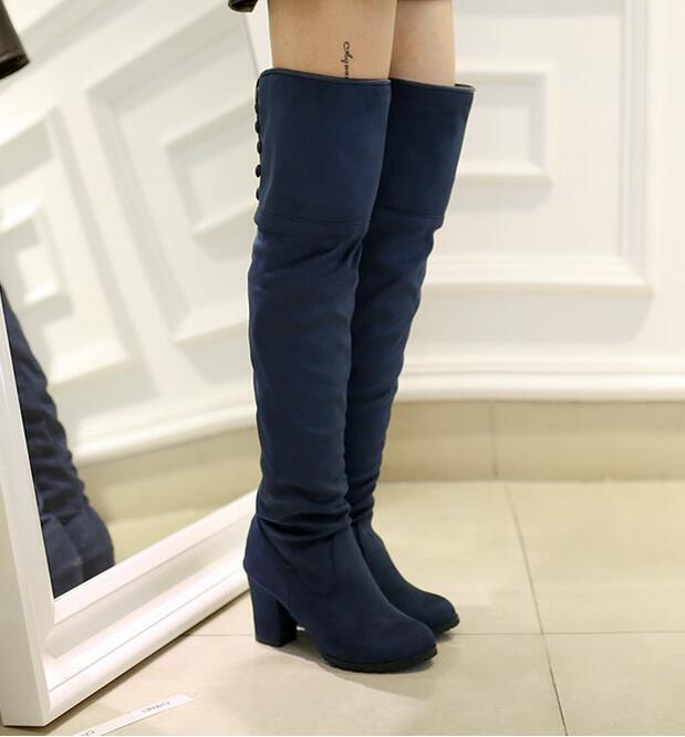Popular Suede Lace up Over The Knee Boots-Buy Cheap Suede Lace up ...