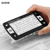 ACEHE Foldable Magnifier Magnifing glass 4.3 Inch LCD Digital Display Video With Indicator Light Stand Mini Induction Device