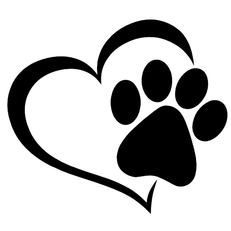 11.4*10.2CM Pet Cat Dog Paw Print Window Decal Lovely Car Styling Decoration Stickers Accessories C6-0288