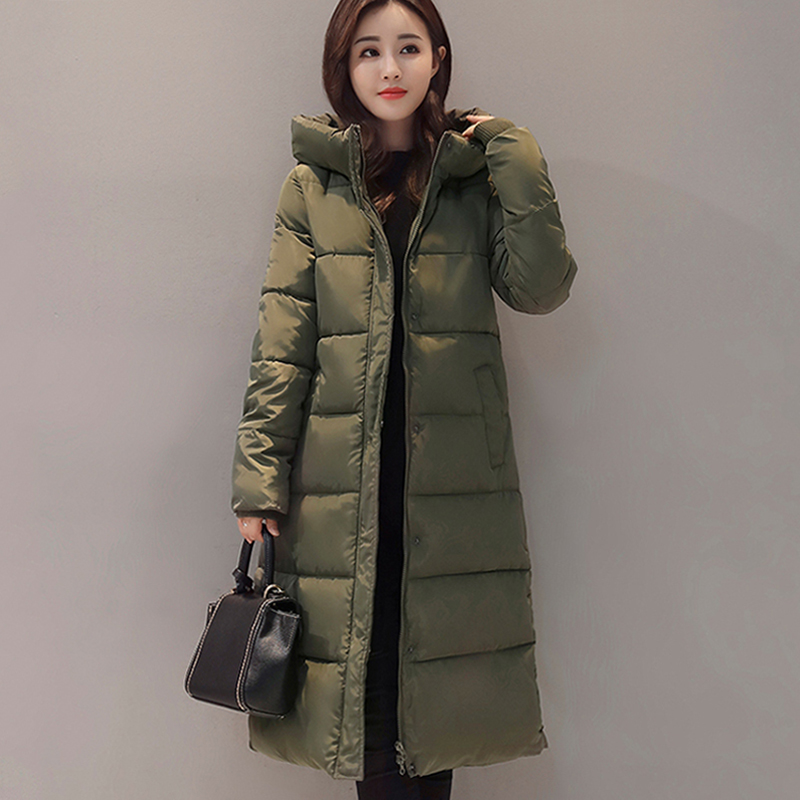 Long warm thicken winter jacket women snow wear cotton padded outerwear for women womens coat plus size 3XL   parka   high quality