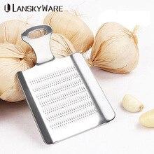 LANSKYWARE Portable Mini Stainless Steel Garlic Grind Press Slicer Chinese Ginger Crusher Chopper Kitchen Gadgets