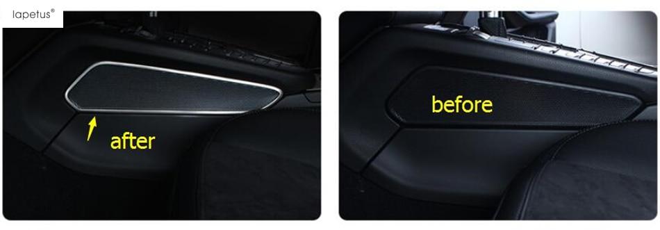 Accessories For Porsche Macan 2014 - 2017 Inside Stereo Speaker Audio Loudspeaker Sound Decoration Molding Cover Kit Trim 2 Pcs