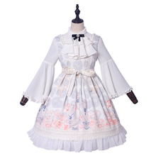 Sweet Lolita Victorian Dress JSK Long Sleeves Printing Bowknot Tea Party Outfit Halloween Cosplay New Year Loli Skirt Plus Size все цены