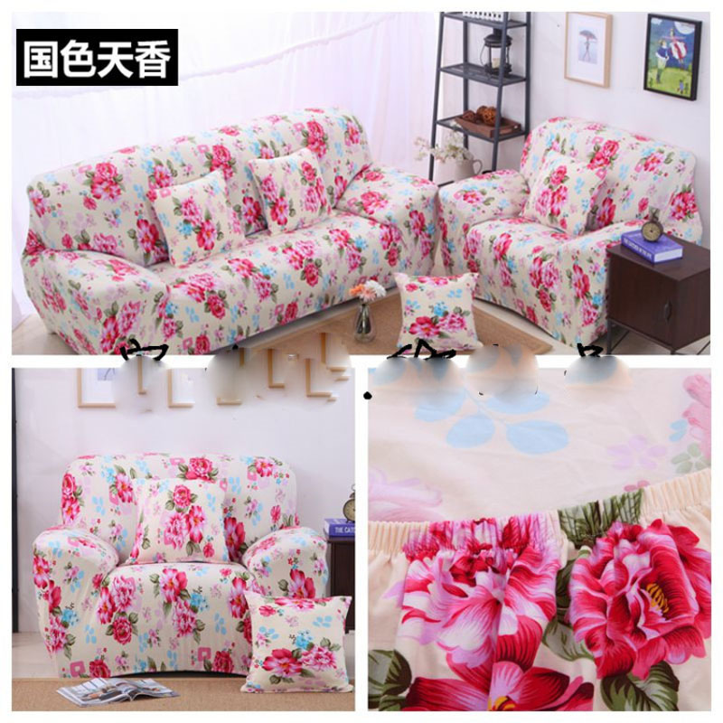 New flower print elastic sofa cover housse canape sofa for Canape sofa cover