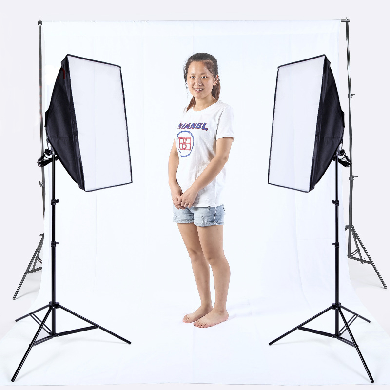 photo light softbox set photographic equipment background stand 2pcs 175w Bulbs 2x3 background stand kit White Muslin Backdrop durable 20 24 26 27 28 mm soft watch bands for diesel watch dz7313 dz7322 dz7257 women s men s watch straps with sliver buckle