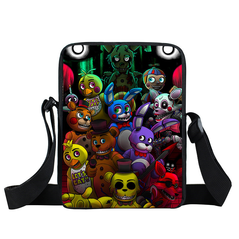 Young Men Five Nights At Freddys Bag Fnaf Mini Messenger Bag Boys Girls Schoolbags Foxy Freddy Bags Chica Bonnie Fazbear Bags five nights at freddy s freddy backpack chica foxy bonnie fnaf shoulder 44x15x33 cm