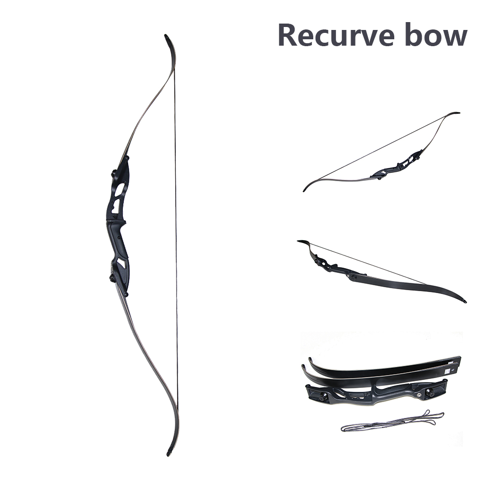Forfar 30/35/40Lbs 56 inches American Hunting Bow Recurve Bow Aluminum Alloy High Strength Hunting Bow Tranditional Long Bow 2pcs robotic vacuum cleaner robotic parts pack hepa filter for xiaomi mi robot filters cleaner accessories