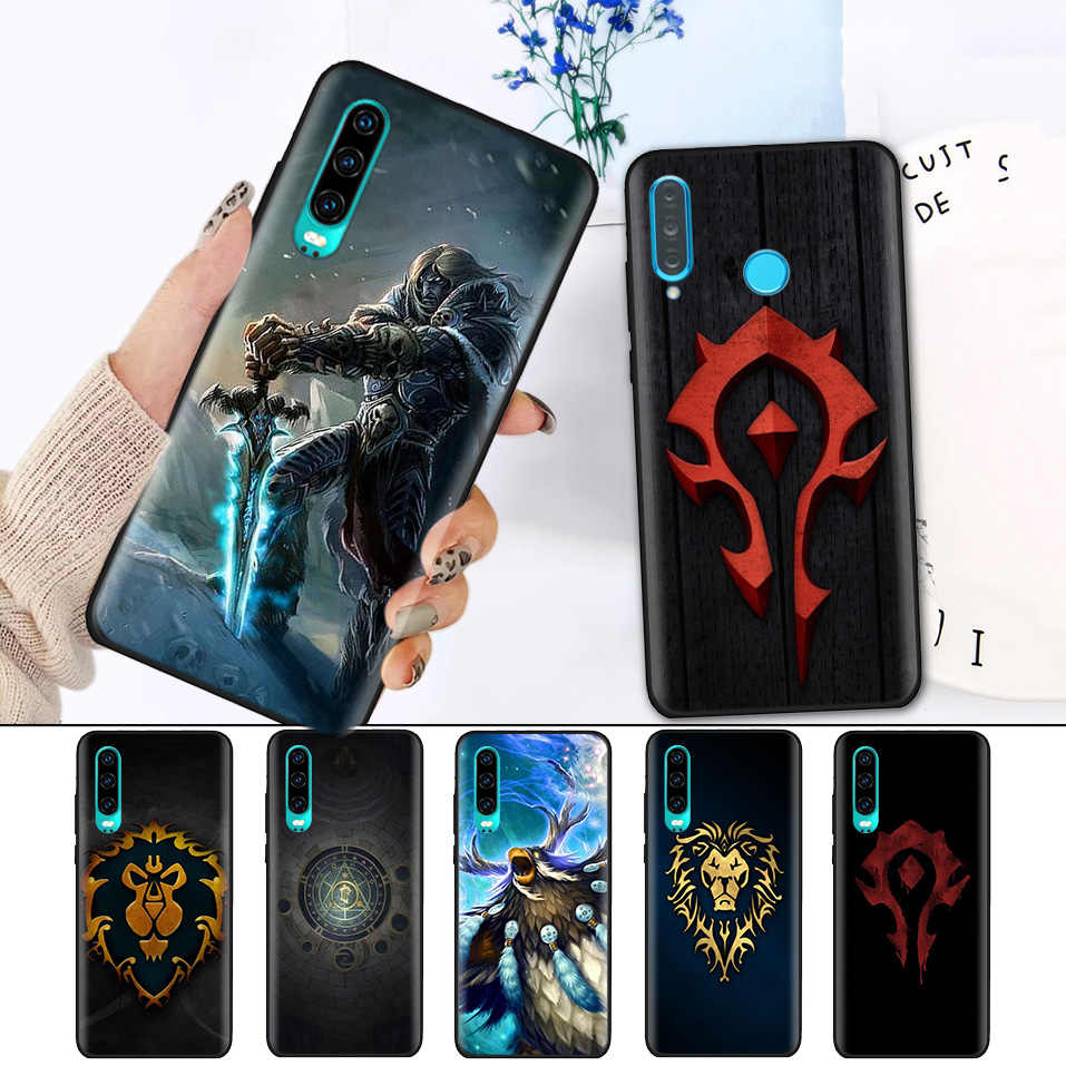 Черный силиконовый чехол для huawei P30 P20 P10 mate 20 10 Nova 5 5i Lite Pro P Smart + Z 2019 Shell Wows World of Warcrafts