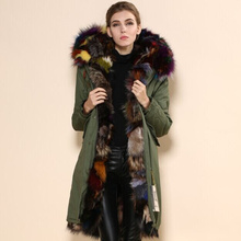 Brown Colorful Fox fur Parka,long style fashion winter fox fur Mrs jacket for ladies fox fur outwear,mulitcolor Mr fur parka