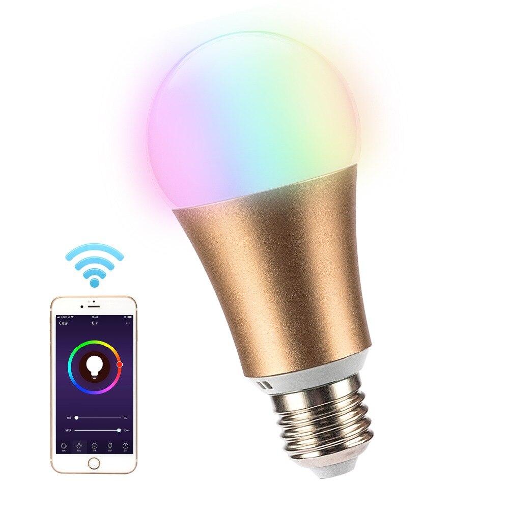 Новинка 2019 металлическая rgb 7w wifi Светодиодная умная шариковая