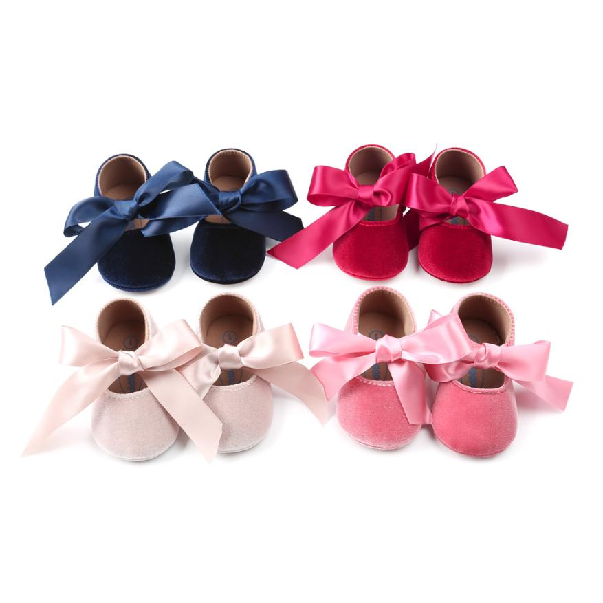 babyGirls shoes first walkers Baby Girl Princess Velvet Shoes Bowknot Fashion Toddler First Walkers Shoes m6 uk