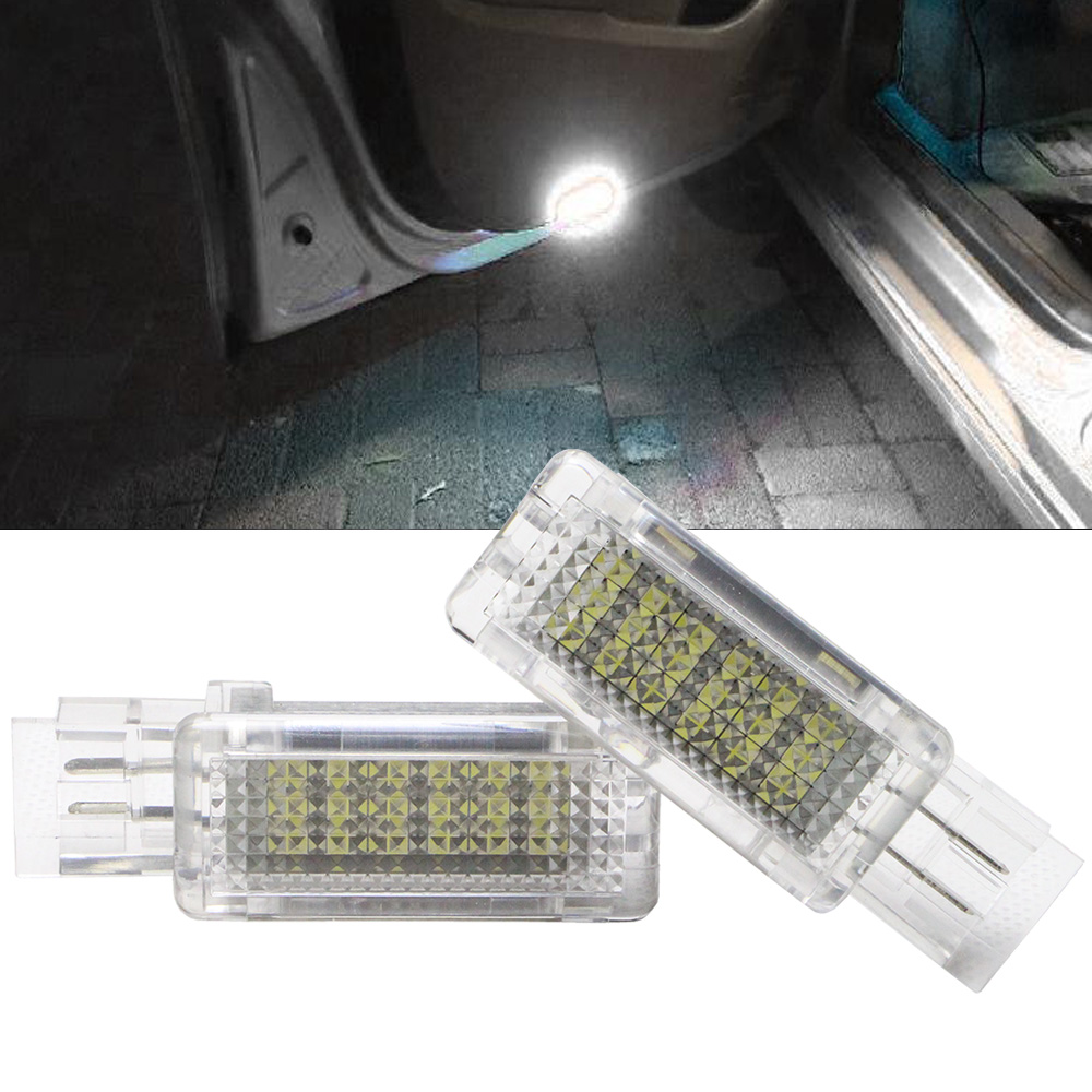 2x Canbus 18 LED Door Courtesy Light for <font><b>Benz</b></font> R171\R199 C Class <font><b>SLK</b></font> CLK SLR Viano W639 NO ERROR 12V No Error Car Welcome Lamp image