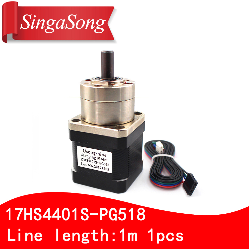 Usongshine 4 lead Nema17 Stepper Motor 42 motor Extruder Gear Stepper Motor Ratio 5.18:1 Planetary Gearbox Nema 17 17HS4401