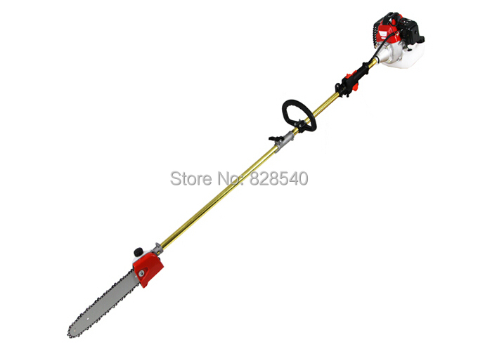 NEW 52cc Long Reach Pole Chainsaw, Petrol Chain Saw Brush Tree Cutter Pruner With 2X75cm Extend Pole Factory Selling