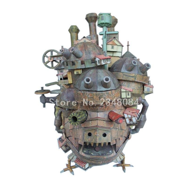 Howl/'s Moving Castle 3D Paper Model 50cm Land Version Educational 3D Puzzle Gift