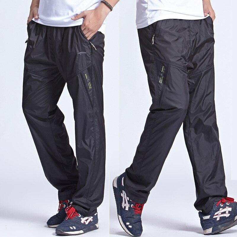 Quick Dry Mens Active Pants Outside Plus Size 6XL Inner Line Long Men Pants Active Elastic Waist Men Exercise Pants Sweatpants