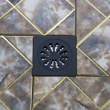 Аксессуары для ванной трапных Ванная комната масло втирают черный бронзовый цветок 5382 резные утечка душа отходов крылом искусство трап
