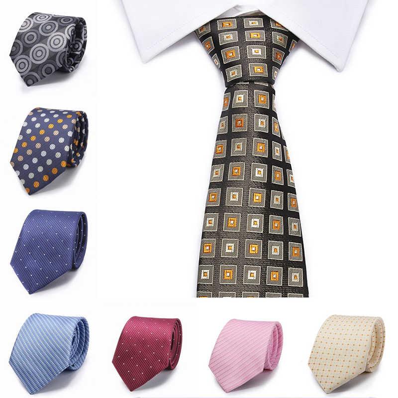 남자 넥타이 실크 스트라이프 브라운 넥타이 8 cm 격자 무늬 블루 넥타이 패션 노란색 꽃 넥타이 웨딩 넥타이 남자 비즈니스 정장