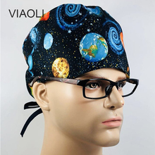 Viaoli Dentist Cap hats Medical Surgical Scrub Caps Surgical Surgeon s  Surgery hat Pet Doctor Cap 0d884866cdb9