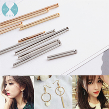 South Korea extremely simple ear hanging stick single pendant tassel DIY handmade earrings earrings ear ornaments accessories