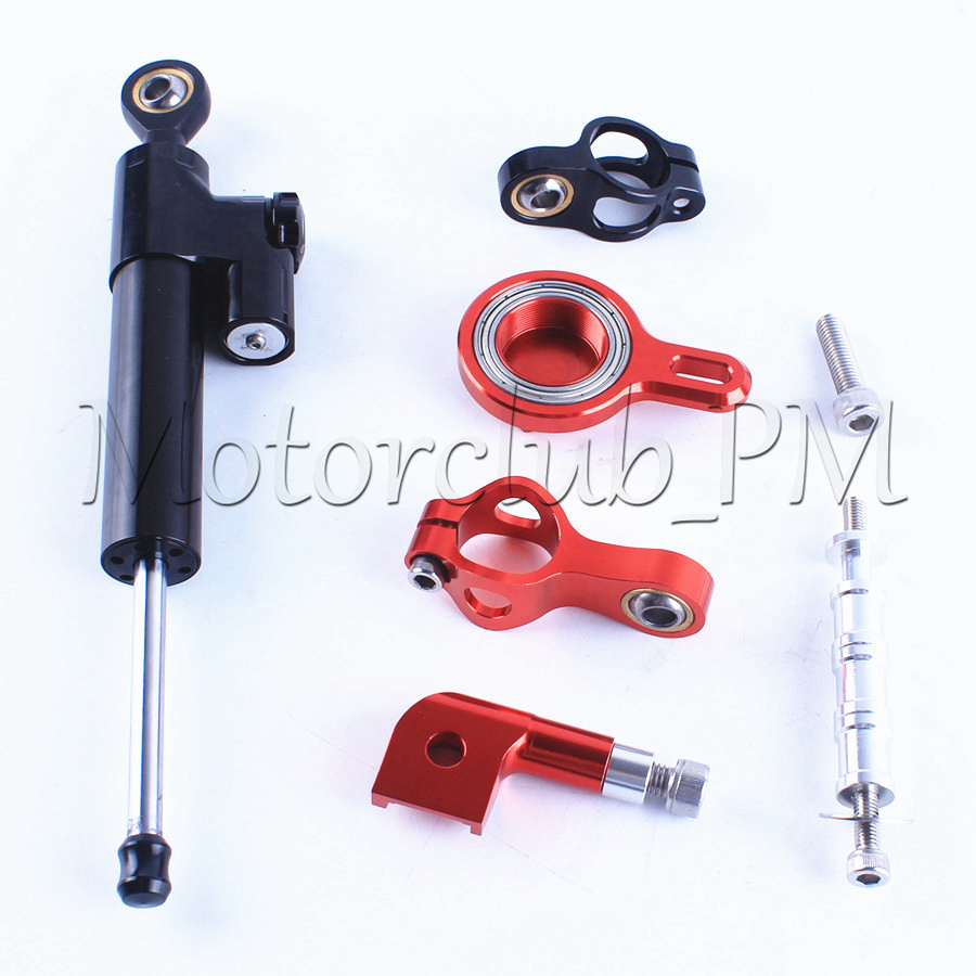 For Yamaha YZF R1 Steering Damper Stabilizer With Mounting Bracket Kit YZF-R1 1999-2005 Red Motorcycle Accessories New for ktm 200 duke 2013 2014 390 duke 2014 2015 2016 motorcycle accessories steering damper stabilizer with mounting bracket kit