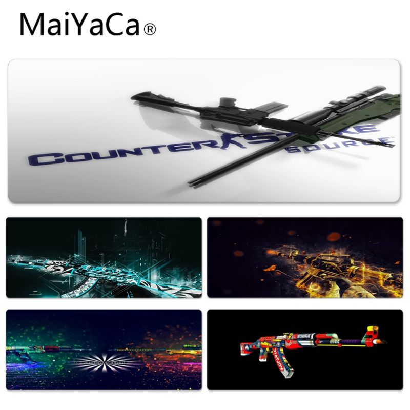 MaiYaCa New Arrivals Gun Wallpaper Keyboard Gaming MousePads Size for 300*900*2mm and 400*900*2mm Game Mousepad