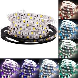Image 5 - DC12V 24V RGB + CCT taśmy LED SMD 5050 RGBW RGBWW RGB WWA elastyczna taśma led liny taśma dekoracyjna światła 5M