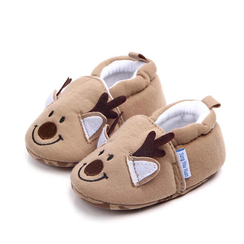Kartun Sepatu Bayi Lucu Anak Laki-laki Yang Baru Lahir Gadis Pertama Walkers Flat Lembut Sole Non-Slip Sepatu Sepatu Balita Sepatu Bot