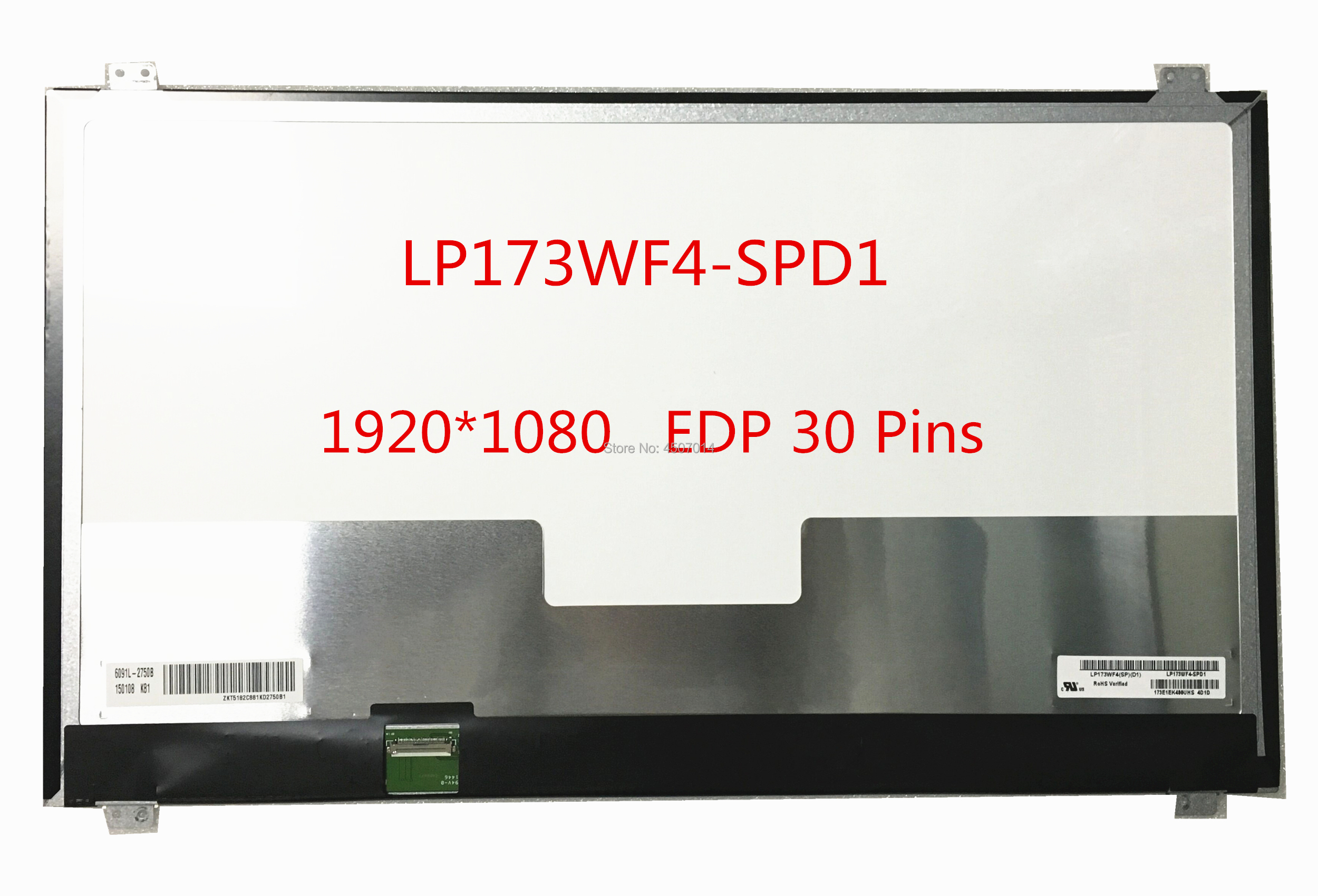 Free shipping LP173WF4 SPD1 LP173WF4 SPD1 fit for Asus GL771JM G752VT FHD Laptop Lcd Screen 1920