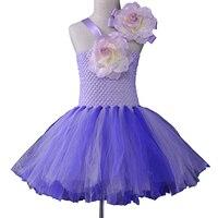 New Girls Dress Summer 2017 Kids Birthday Party Ball Gown Flowers Baby Girl Tutu Dress Tulle Children Princess Dress Costumes