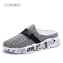 XGVOKH plus 39-46 Men Sandals Summer Breathable Air footwear men lighted slippers outdoor Beach Mens Shoes Leisure Slippers