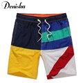 2017 Verão New Casual sexy para os homens da marca Patchwork shorts boardshort luxo bramuda beachshorts mens calças curtas de secagem rápida