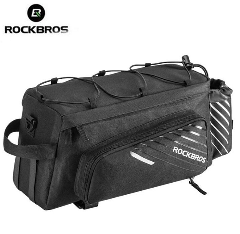 ROCKBROS Bicycle Rear Seat Cycling Pannier Bags Bike Bag Rear Carrier Bag Rear Pack Trunk Pannier Bicycle Rain Cover Bags in Bicycle Bags Panniers from Sports Entertainment