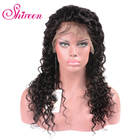 Shireen Lace Front Human Hair Wigs For Black Women Deep Curly Weave Black Human Hair Wigs Deep Wave With Short Remy Baby Hair