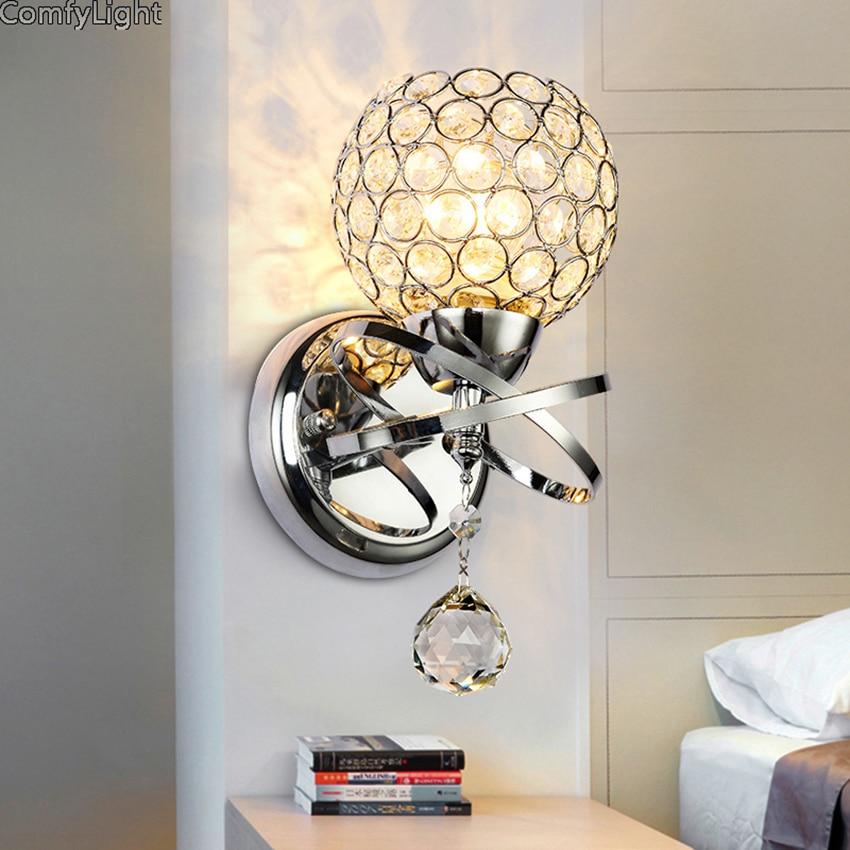 Iminovo Led Crystal Wall Lamp Home Lighting Living Room K9 E27