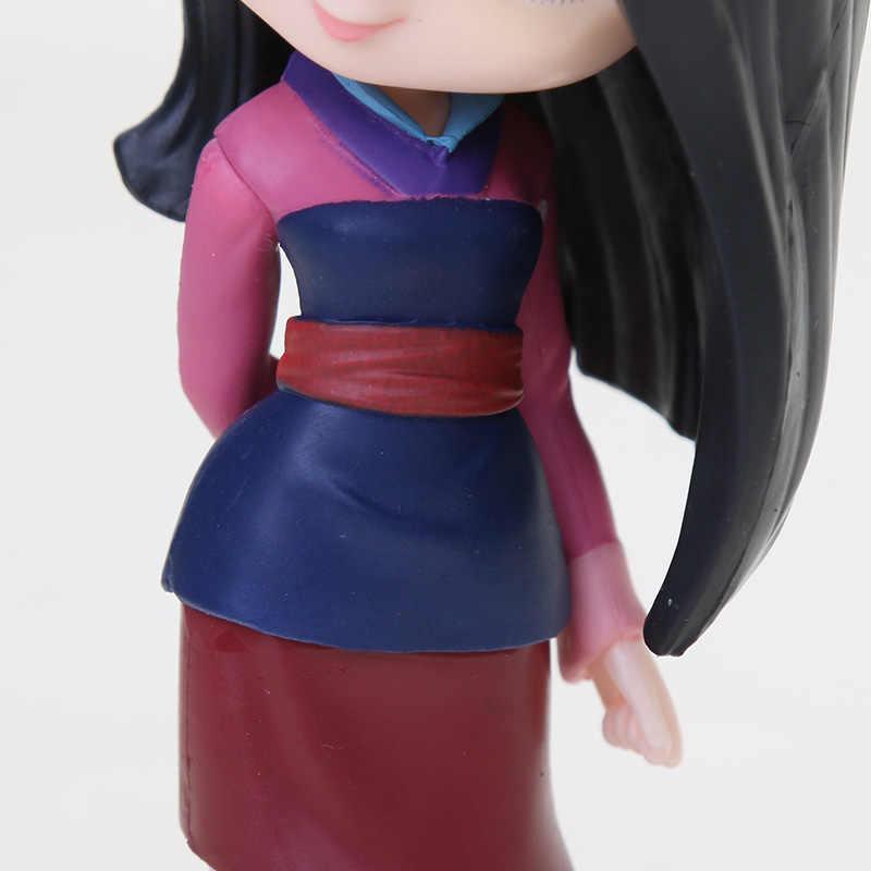 11cm Q Posket księżniczka figurka zabawki Mulan księżniczka kolekcja modelowych figurek akcji zabawki z pvc