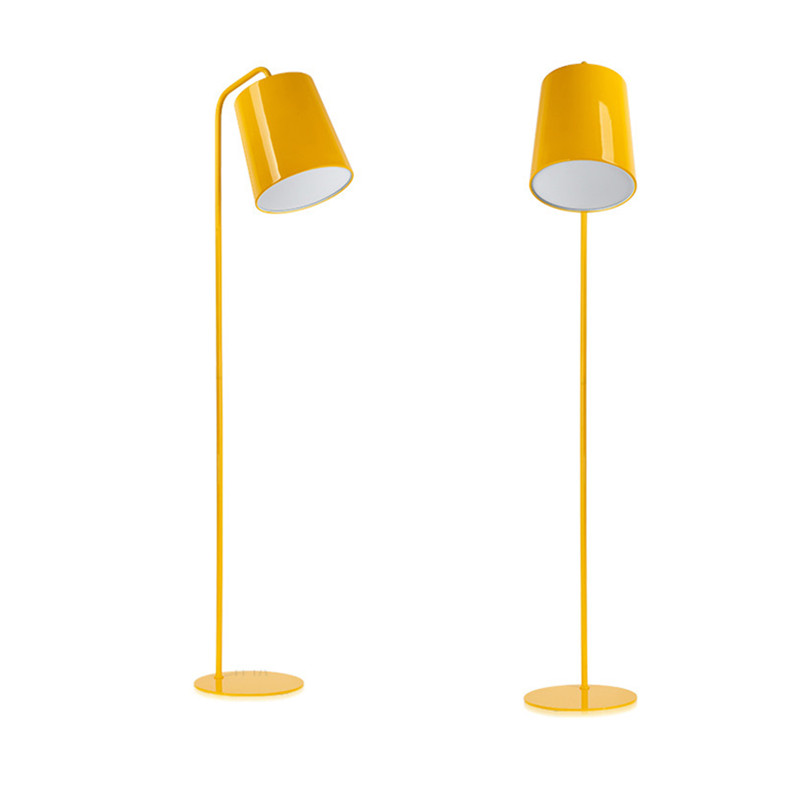 thousands of city Floor Lamp simple modern bedroom living room lamp lights Nordic study vertical desk lamp yellow Colin FG920 french garden vertical floor lamp modern ceramic crystal lamp hotel room bedroom floor lamps dining lamp simple bedside lights
