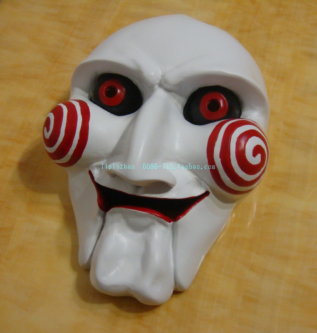 genuine cosplay saw horror halloween mask dance party white killer
