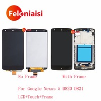10Pcs Lot DHL 4 95 For LG Google Nexus 5 D820 D821 Full Lcd Display Touch