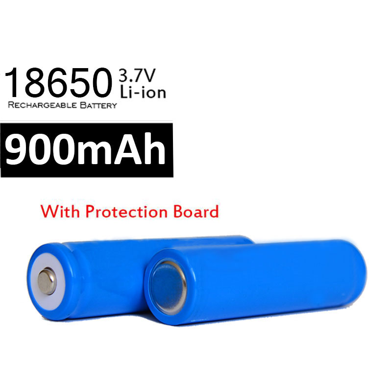 100pcs/lot 900mAh 18650 Battery 3.7V with PCB Board Rechargeable Li-ion Battery Bateria for Led Flashlight Batery Wholesale