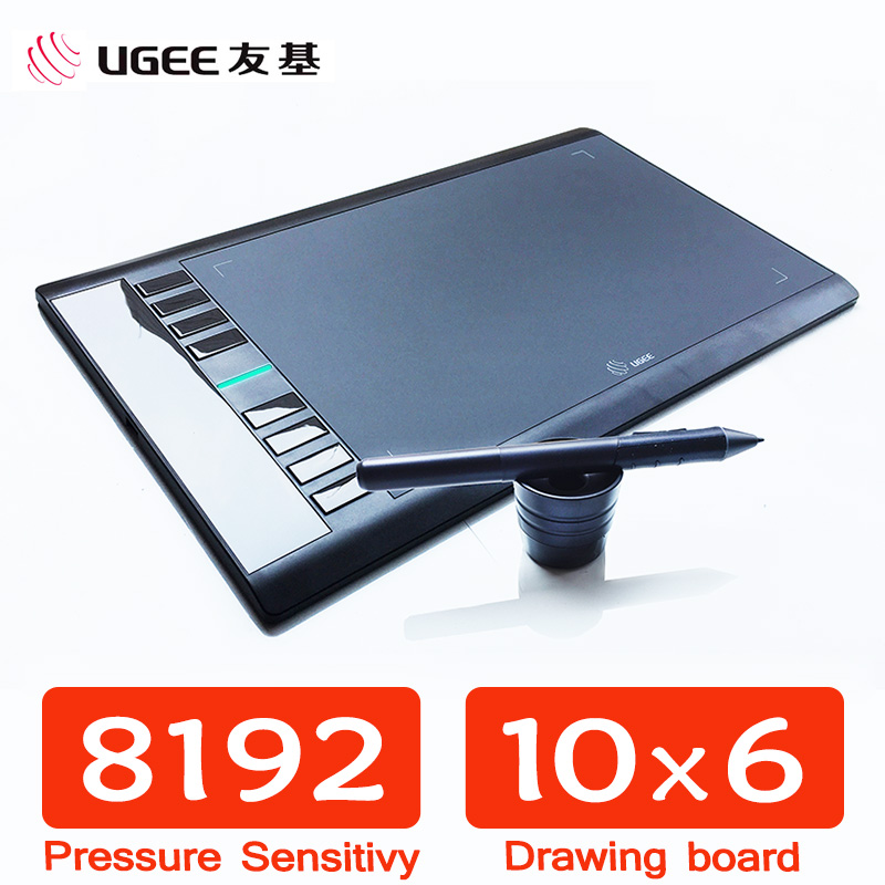 UGEE M708 8192 Levels 10x6inch Smart Graphic Drawing Tablet Digital Tablet Pad Pro Designer Drawing Pen for Writing Painting ugee ug 2150 p50s pen digital painting drawing tablet