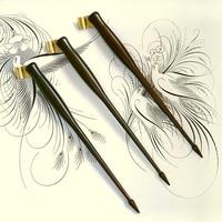 Oblique Calligraphy Pen Holder English Copperplate Script Antique Solid Wood Dip Pen Holder Dip Pen