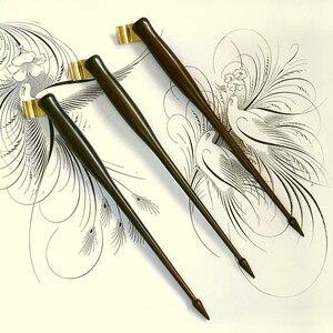 Caligrafia oblíqua caneta titular inglês copperplate script antigo de madeira maciça dip caneta titular dip caneta